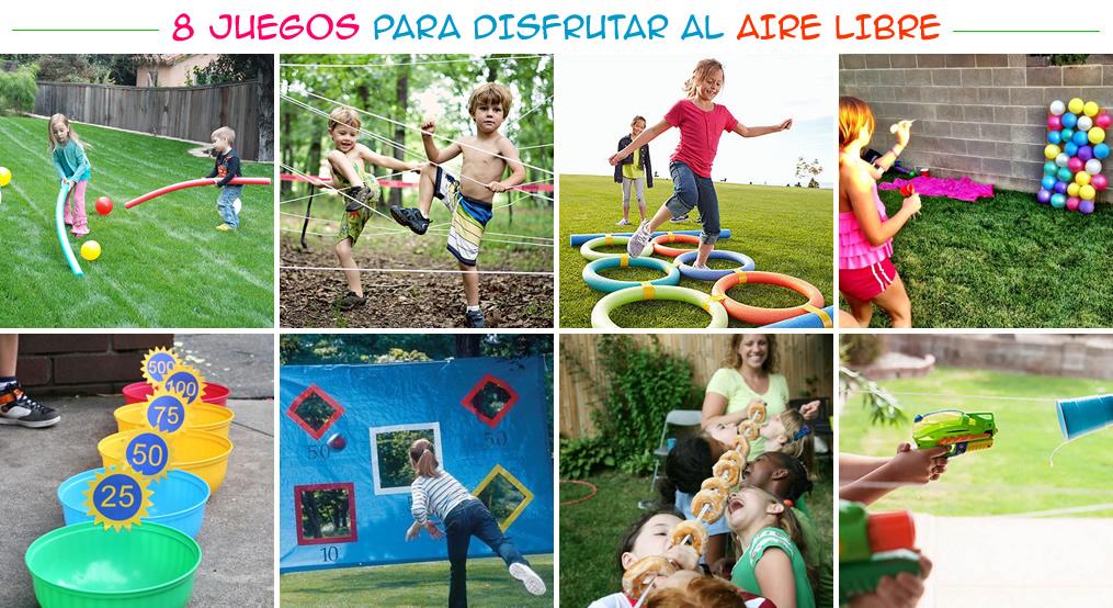 8 Juegos para disfrutar al aire libre Ms Chicos