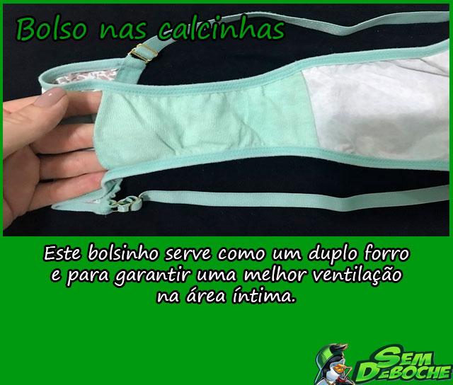 BOLSO NAS CALCINHAS