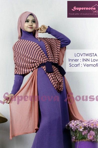 model baju muslim gamis rompi panjang Modern