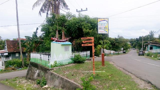 Petunjuk jalan Pantai Marumasa Darubiah Bonto Bahari Bulukumba