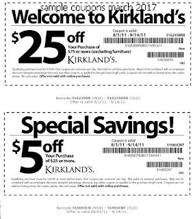 Kirklands coupons march