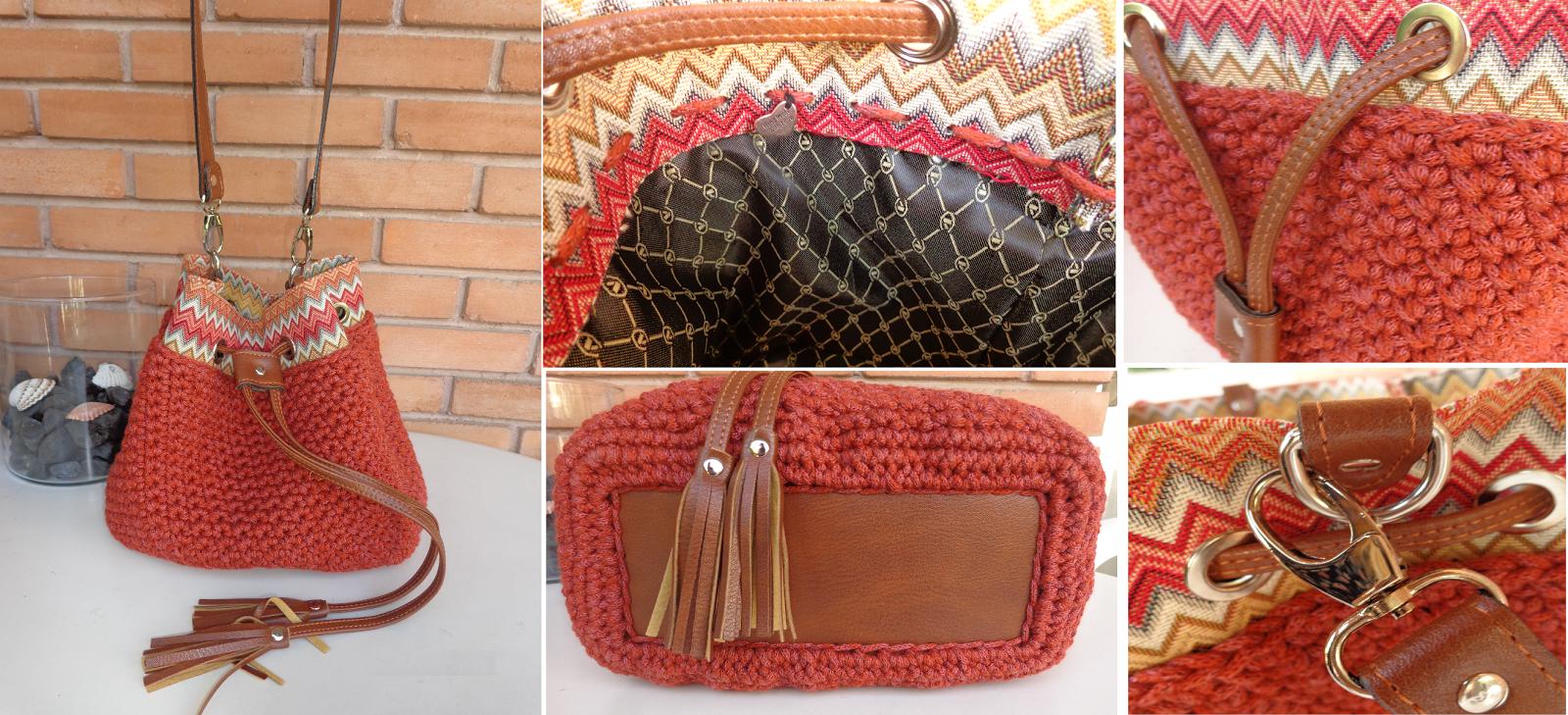 ff87714a70 TS15-110Ε Πλεκτή χειροποίητη τσάντα-πουγκί ώμου πλεγμένη με βαμβακερό  κορδόνι