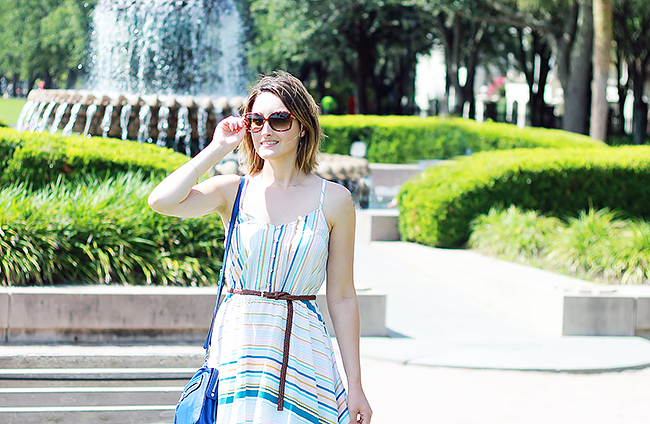 LC Lauren Conrad Striped Midi Dress Summer Outfit