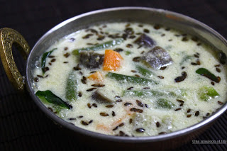 stew made with vegetables, coconut and yogurt