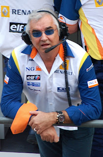 Flavio Briatore in his days as boss of the Renault F1 team