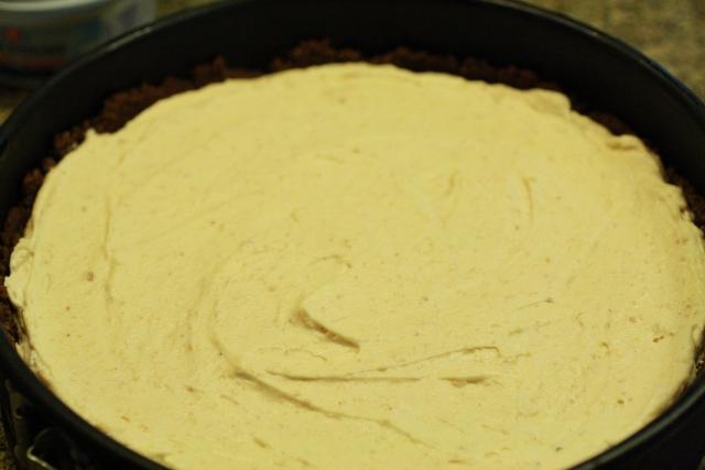 Cheesecake fácil de mantequilla de maní / Easy peanut butter cheesecake