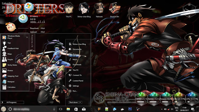 Windows 10 Ver. 1703 Theme Drifters by Enji Riz