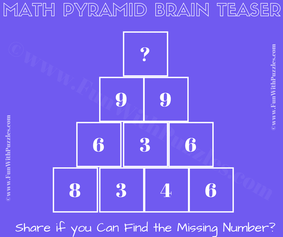 Maths Riddle and Puzzle with Answer-Fun With Puzzles