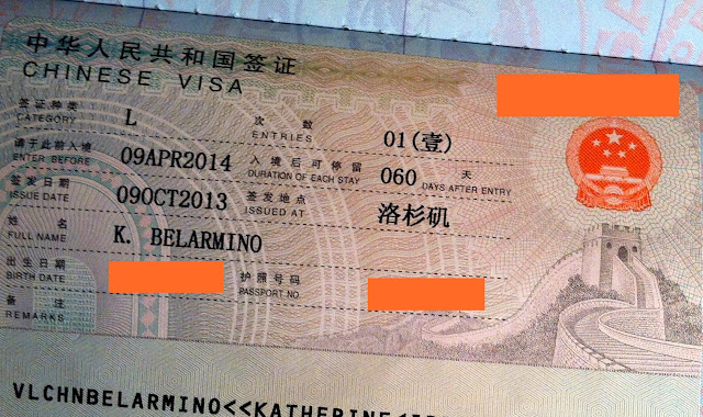 China Tourist Visa