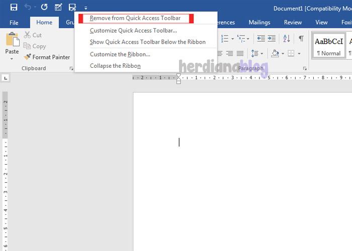 Remove-Quick-Access-Toolbar