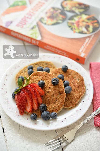 fluffy banana chia vegan pancakes
