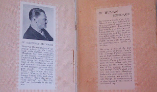 Introduction of Of Human Bondage 1933 Doubleday, Doran & Company edition