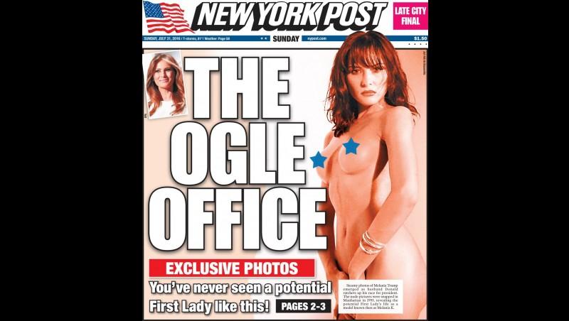 Milenia juga pernah bugil di New York Post