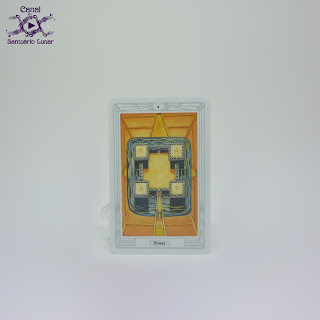 The Thoth Tarot (Sterling Ethos) - 4 of Disks