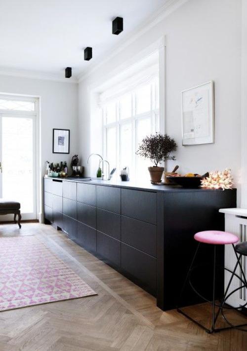 cozinha armários pretos