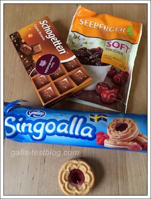 Seeberger Softkirschen und Göteborgs Singoalla Kekse und