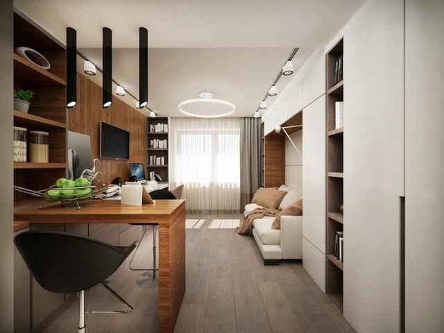 Không gian phòng khách căn hộ 25m2