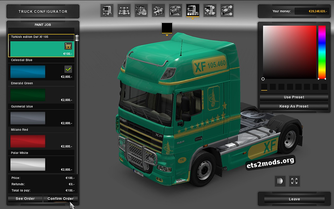 Turkish Editon Special Skin for DAF XF