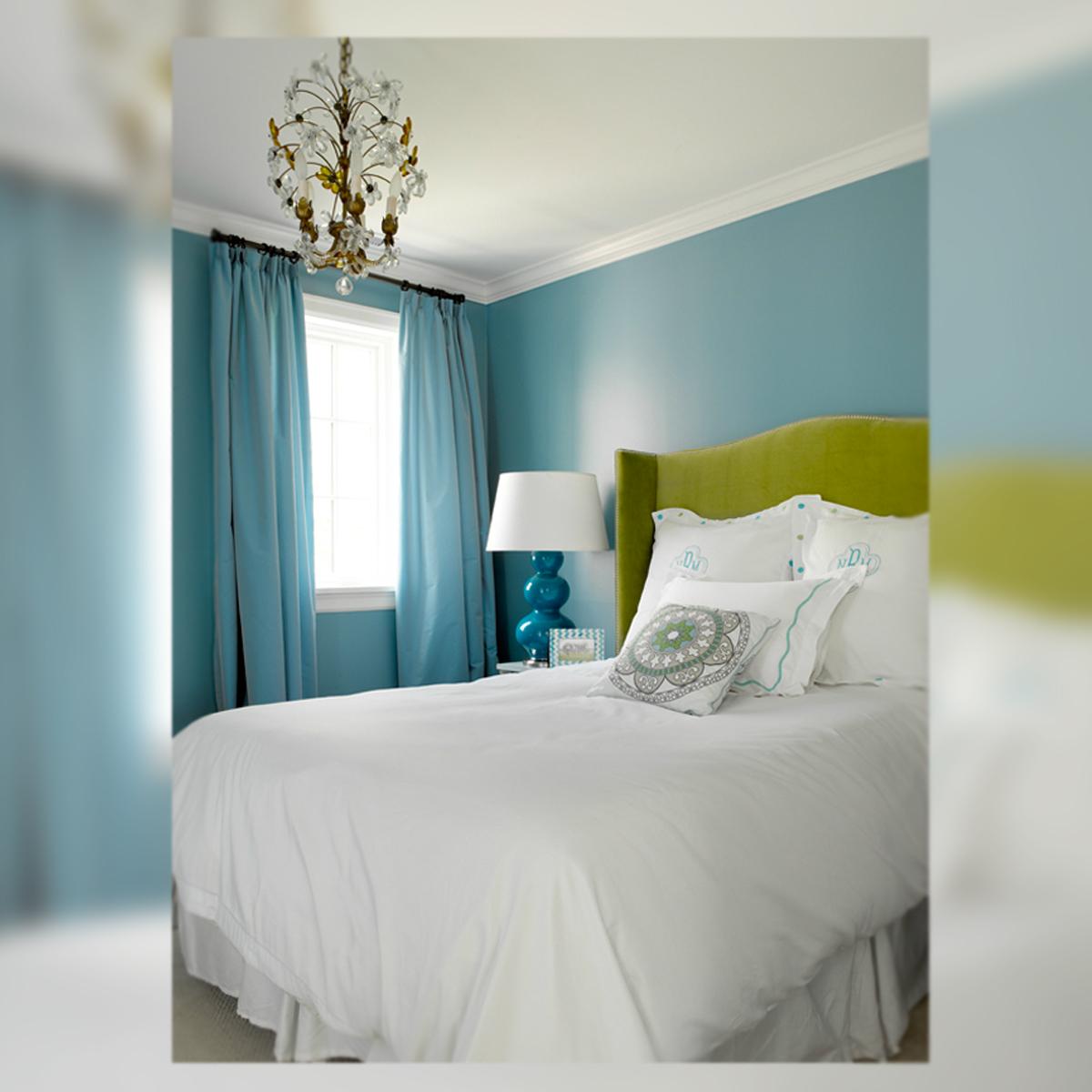 Decoraci n interior en verde azul y gris la musa for Pintura gris para interiores