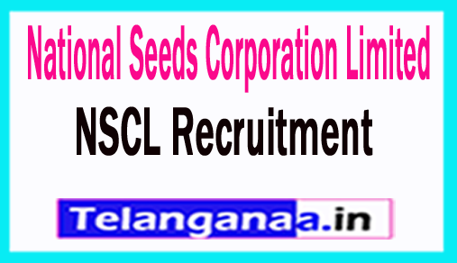 NSCL National Seeds Corporation Limited Recruitment 2018