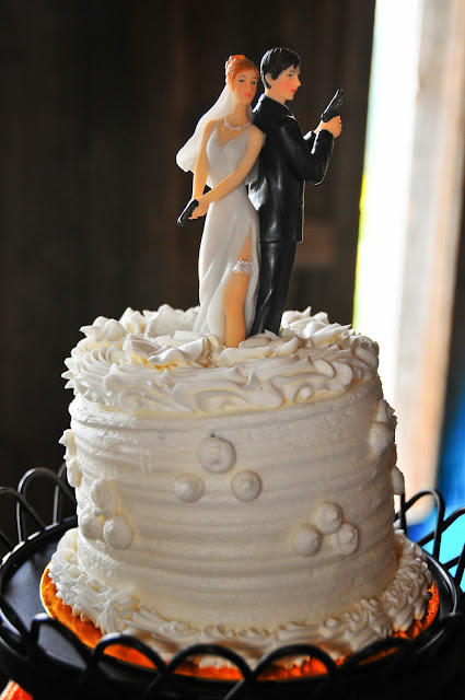 Police Officer Bride and Groom Cake Topper