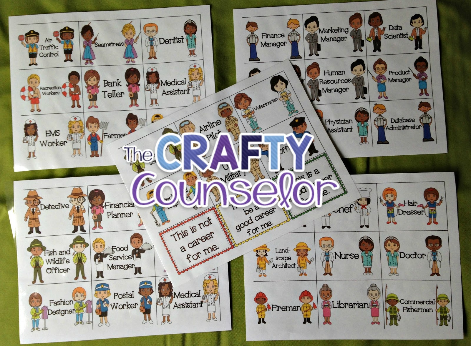 The Crafty Counselor Kids Career Choices