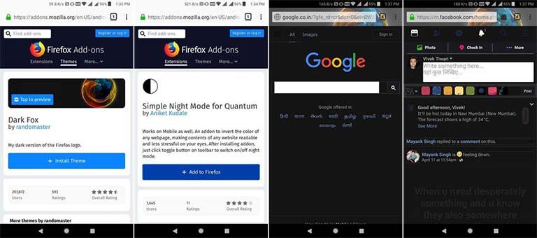 Inilah 5 Browser Android Yang Memiliki Fitur Dark Mode / Night Mode