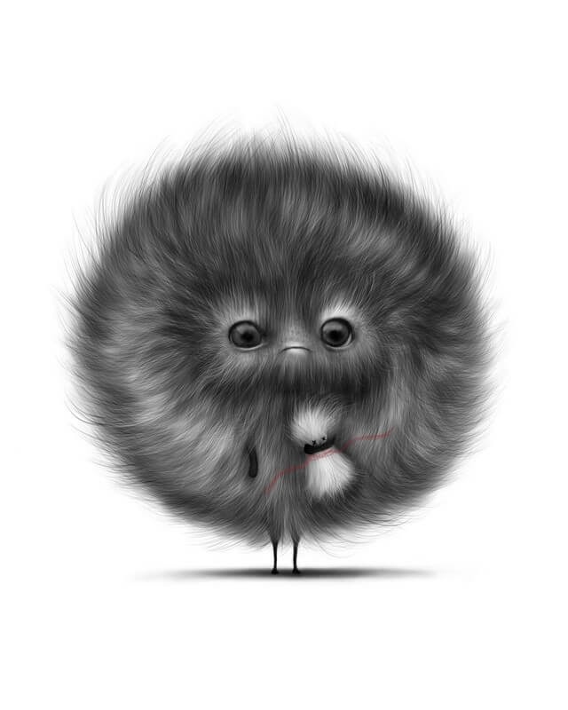 07-Fluff-Ball-Maria-Fluffy-Animals-in-Digital-Art-Creatures-www-designstack-co