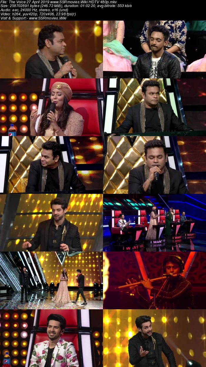 The Voice 27 April 2019 HDTV 480p Full Show Download