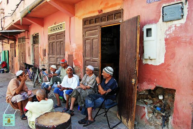 Escenas de la vida diaria en Marrakech