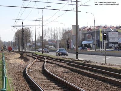 Odcinek jednotorowy, Kraków ul. Wielicka