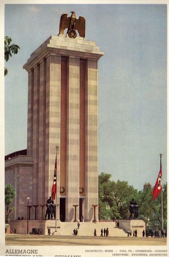 Pabellón de Alemania en París en 1937