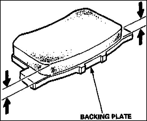 rear brake pads replacement 1997,1998,1999, Acura cl