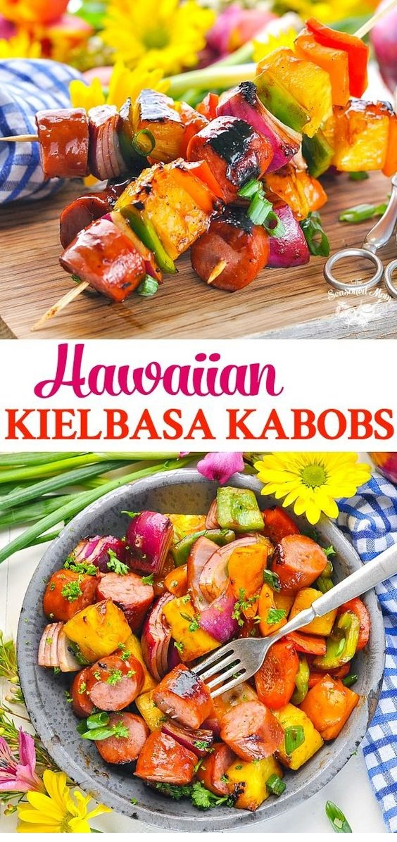 Hawaiian Kielbasa Kabobs