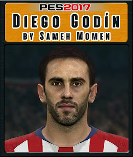 PES 2017 Faces Diego Godín by Sameh Momen