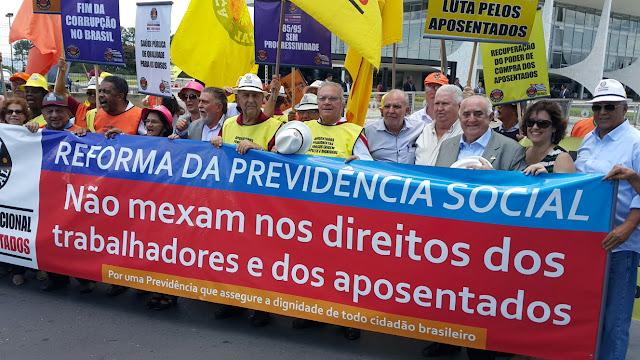 Goiana: SINTEPE promove protesto contra a Reforma da Previdência