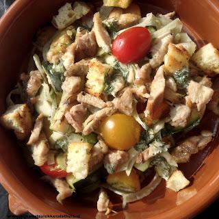 salade met gegrilde kip tomaatjes venkel