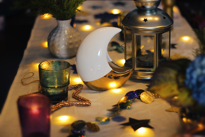 Valentina Vaguada: christmas table, celestial, space, starynight, ultra violet, table setting