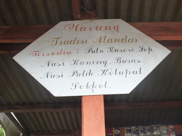 warung tradisi mandar tinambung