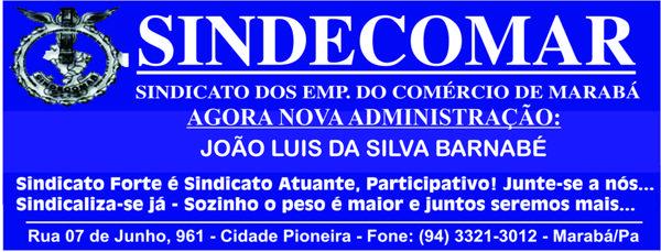 SINDECOMAR - AGORA NOVA ADMINISTRAÇÃO -- PRESIDENTE JOÃO LUÍS DA SILVA BARNABÉ
