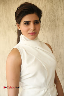 Actress Samantha Latest Picture Gallery in White Stylish Dress  0044