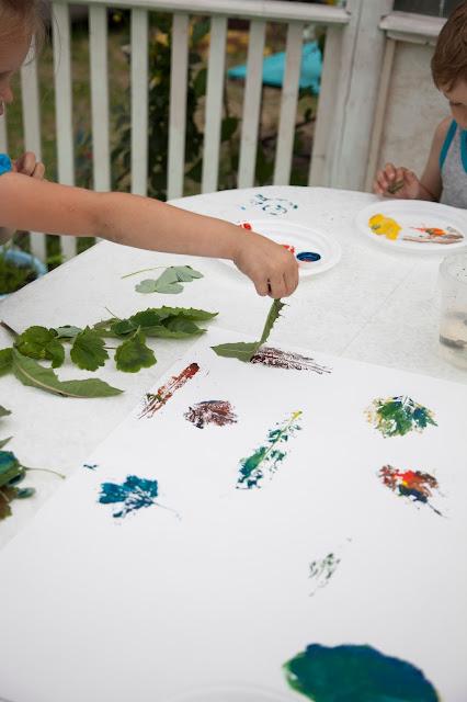 Как делать отпечатки листьев