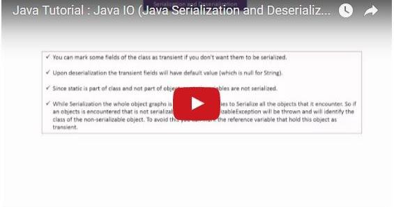 Java ee java tutorial java io java serialization and for Object pool design pattern java