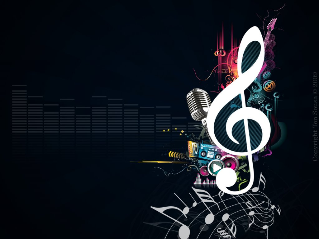 Info Wallpapers: music notes wallpaper