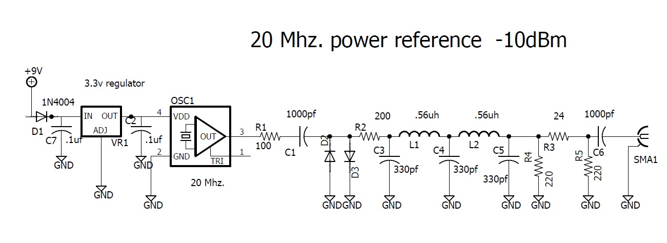 DuWayne's Place: 20 Mhz  power Reference & Calibrating the