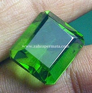 Batu Permata Green Tektite + Memo - ZP 349