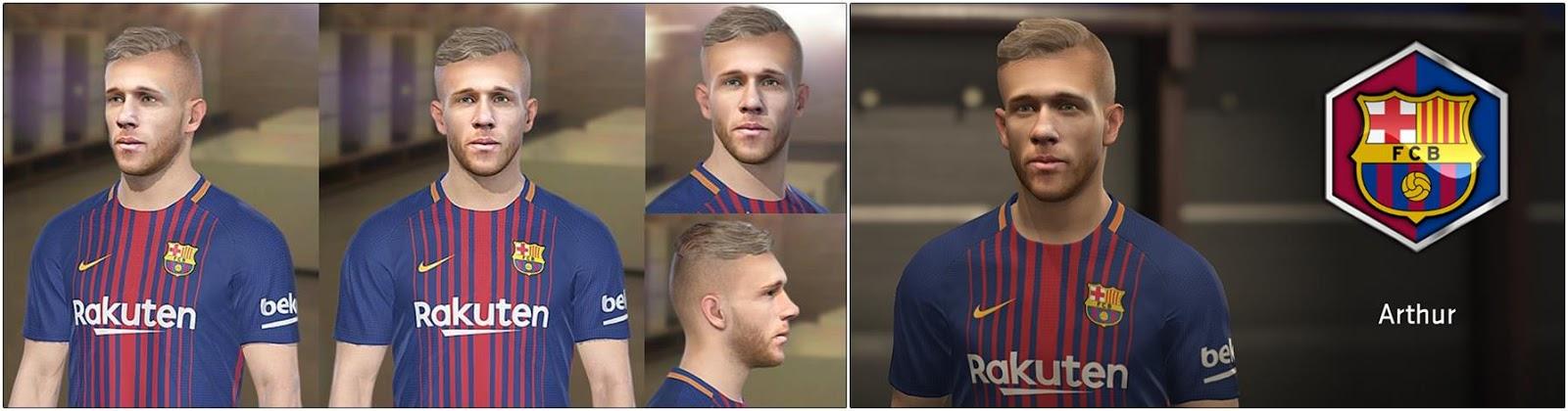وجه لاعب برشلونة الجديد آرثر ميلو 2019 لبيس 2017 و 2018