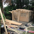 Lowered Liverpool log cabin 4m x 4m - Dressmaking & Costume studio in Coulsdon, Surrey
