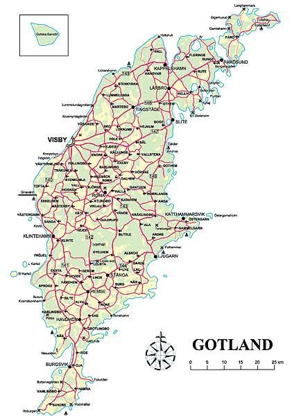 gotland karta Karta över Gotland Regionen Stora | Karta över Sverige, Geografisk  gotland karta