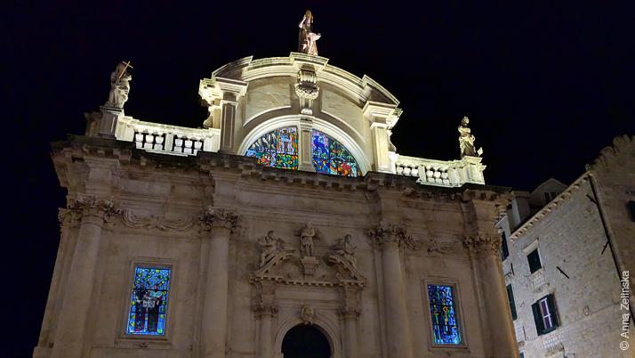 Церковь Святого Власия ночью, Дубровник